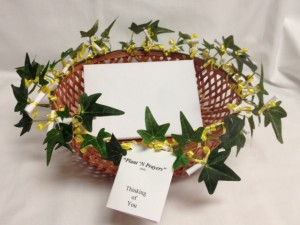 Plant 'N Prayers Card Basket -- $22.50 (basket may vary)